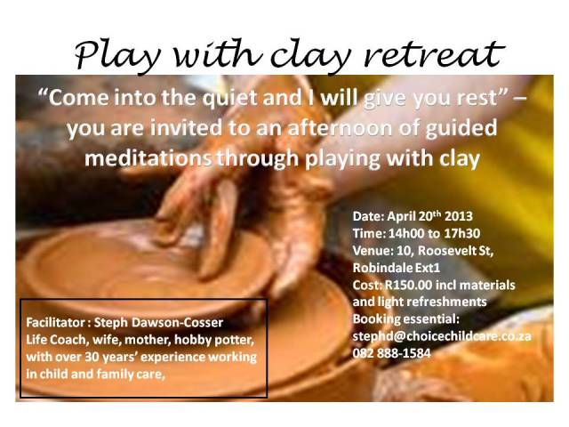 Play with clay retreat